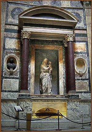 English: Pantheon, Rome, Raphael's tomb.