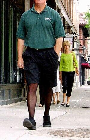 Pantyhose for men - A man wearing pantyhose