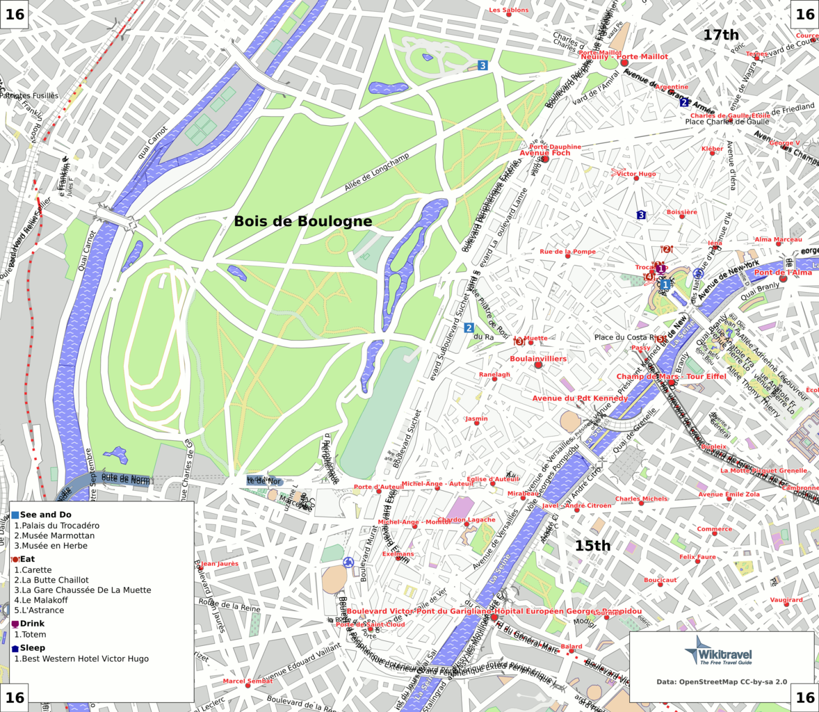 File Paris 16th Arrondissement Map With