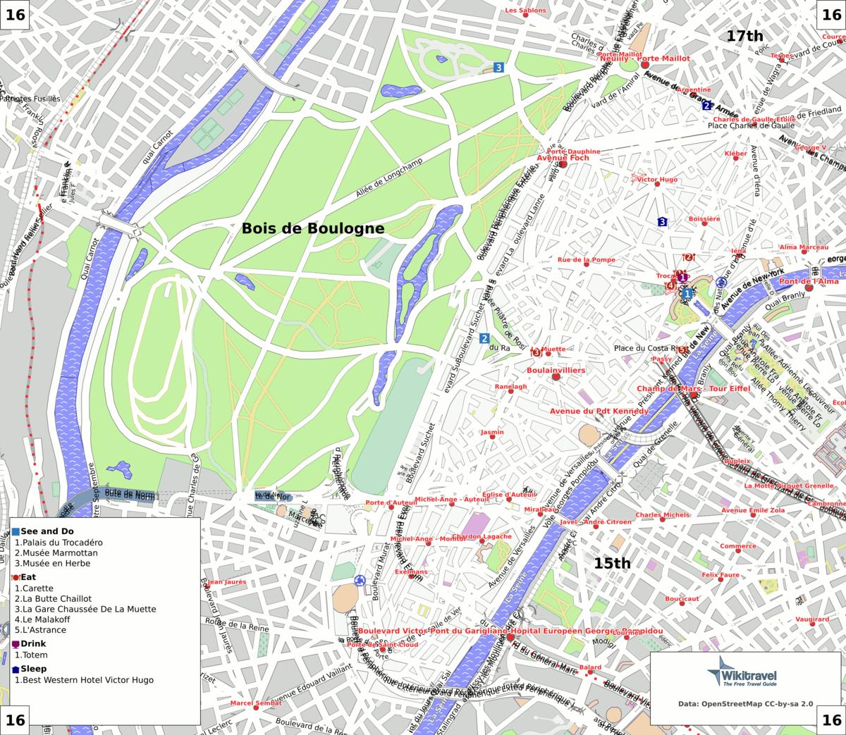 liste des voies du 16e arrondissement de paris wikip dia. Black Bedroom Furniture Sets. Home Design Ideas