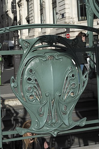Paris Métro entrances by Hector Guimard - Image: Paris Métro Quatre Septembre 906