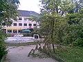 Park s fontánou pred ŽSR v PB, dnes už neexistujúci , nafotené po búrke , ktorá sa prehnala mestom 22.5.2009 (2 z 6) - panoramio.jpg