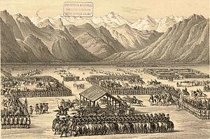 Parliament of Negrete (1793) - The 1793 parliament of Negrete according to Claudio Gay.