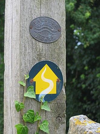 River Parrett Trail - Image: Parrett Trailmarker