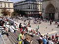 Parvis Notre Dame 19, 850th anniversary of Notre-Dame.jpg
