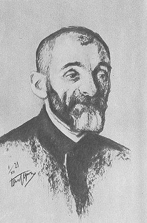 Lev Shestov - Portrait of Lev Shestov by Leonid Pasternak, 1910