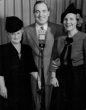 "WEEI (AM) - Actor Pat O'Brien was a guest on the WEEI program ""Hollywood Snapshots"" in 1942."