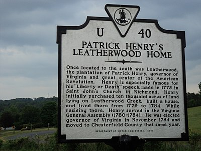 Patrick Henry's Leatherwood Home Henry County Virginia