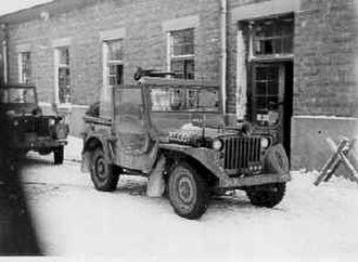 Siege of Bastogne - Image: Pattons jeep bastogne 1945