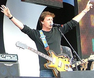 Epiphone Casino - Paul McCartney with an Epiphone Casino at Live 8
