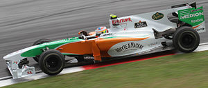 Paul di Resta - Di Resta during practice at the 2010 Malaysian Grand Prix.