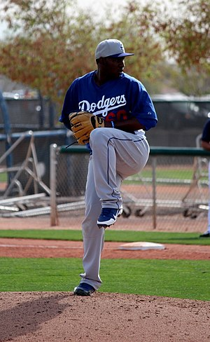 Pedro Báez - Báez with the in spring training with the 2013 Los Angeles Dodgers