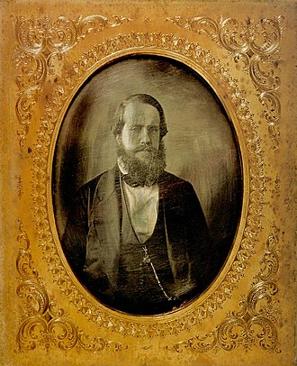 Growth of Pedro II of Brazil - Pedro II, around age 26, c. 1852.