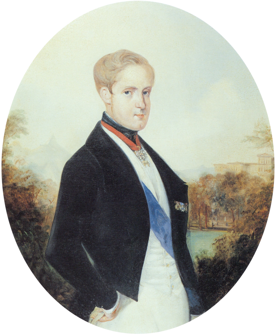 Pedro II of Brazil 1846 by Rugendas