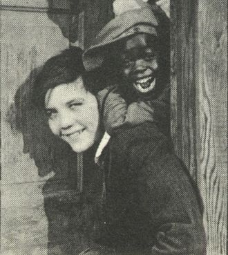 Gordon Griffith - Gordon Griffith (bottom) and Florence Morrison (top) in a detail from a still for Penrod (1922).