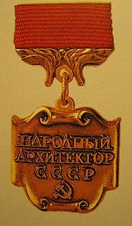 Peoples Architect of the USSR award