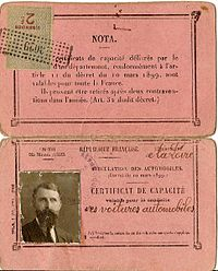 Premiers permis de conduire