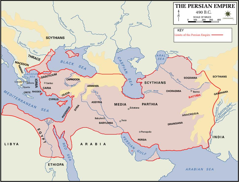 Persian empire 490bc Bactria