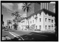 Perspective view of southeast elevation - YWCA Building, 1040 Richards Street, Honolulu, Honolulu County, HI HABS HI-528-1.tif