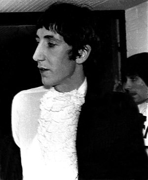 Pete Townshend - Townshend (with Moon, rear right) backstage before a gig in Ludwigshafen, Germany in 1967