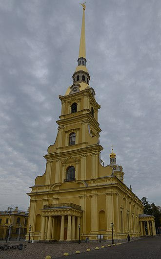 Petrine Baroque - The Peter-Paul Church by architect Dominico Trezzini exists as it was originally designed. The Peter-Paul Church is regarded as the most notable example of the Petrine Baroque style of architecture