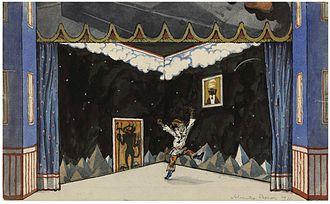 Petrushka (ballet) - Petrushka's Room by Alexandre Benois.