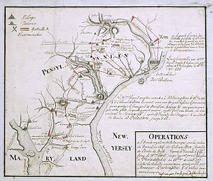 A period map showing the locations of the batt...