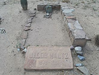 Lost Dutchman's Gold Mine - Grave of Jacob Waltz, Pioneer and Military Cemetery, west of downtown Phoenix