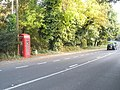 Phone box on the A283 at Wormley - geograph.org.uk - 1546194.jpg