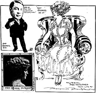 George McManus - George McManus and Florence Bergere; composite by Marguerite Martyn for the St. Louis Post-Dispatch, 1910