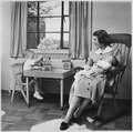 "Photograph of Betty Ford Holding Infant Son, John ""Jack"" Ford, in her Arms while Michael Ford Plays at a Small Table... - NARA - 186876.tif"