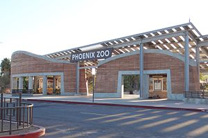 Phoenix Zoo - Zoo entrance (2014)