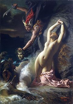 Picou, Henri Pierre - Andromeda Chained to a Rock - 1874