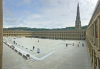 Heritage Lottery Fund - A Heritage Grant saw the renovation of Piece Hall in Halifax, West Yorkshire.