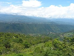 View from Cumaca, rural part of Tibacuy
