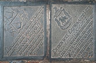 Wolvendaal Church - Tombstones of reverend Henricus Philipszoon and his wife Susanna Scharff