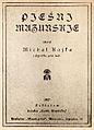 Piesni Mazurskie, Michal Kajka.jpg