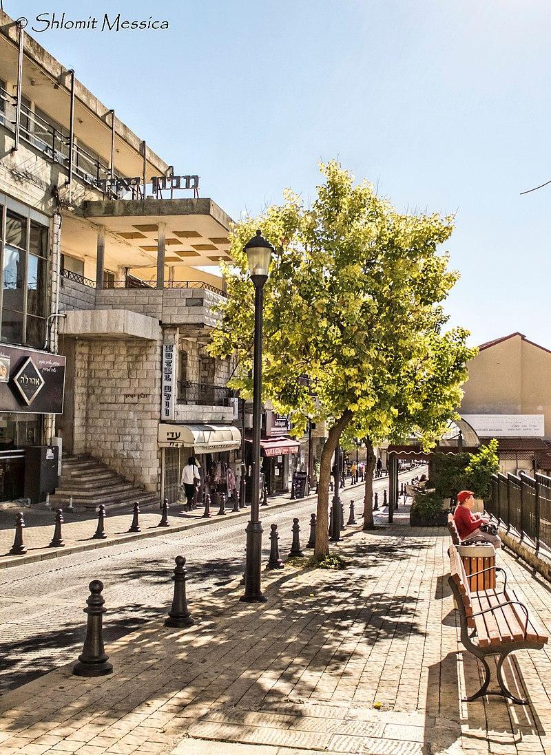 צפת המדרחוב רחוב ירושלים