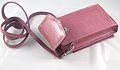 Pink Lizard Fushia 2 Pouch Purse from iPurse.JPG