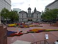 Pioneer Courthouse Square during Rose Festival festivities.jpg