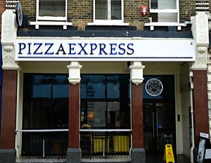PizzaExpress - The Sutton, London branch, which opened in the late 1980s, and won a local architectural award