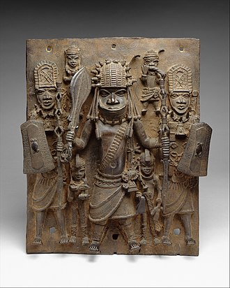 Kingdom of Benin - Image: Plaque Warrior and Attendants MET DT1231