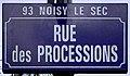 Plaque Rue Processions - Noisy-le-Sec (FR93) - 2021-04-16 - 1.jpg