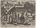 Plate 36- Civilis and Cerialis Meet on a Broken Bridge to Reach an Accord, from The War of the Romans Against the Batavians (Romanorvm et Batavorvm societas) MET DP862863.jpg