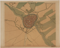 Plattegrond van Amersfoort met toegangswegen (ca. 1570, Jacob van Deventer).png