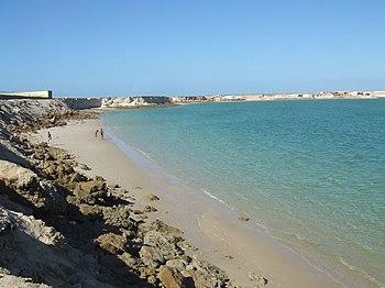 Playa junto a Dajla %28Sahara Occidental%29