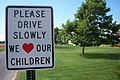 Please Drive Slowly We Love Our Children (4887723526).jpg
