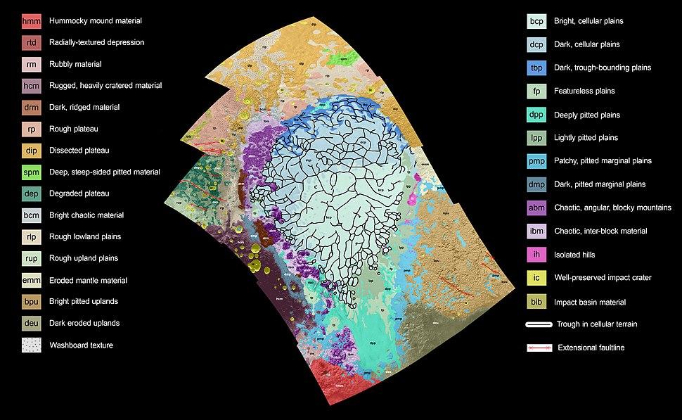 Pluto's Sputnik Planum geologic map (cropped)