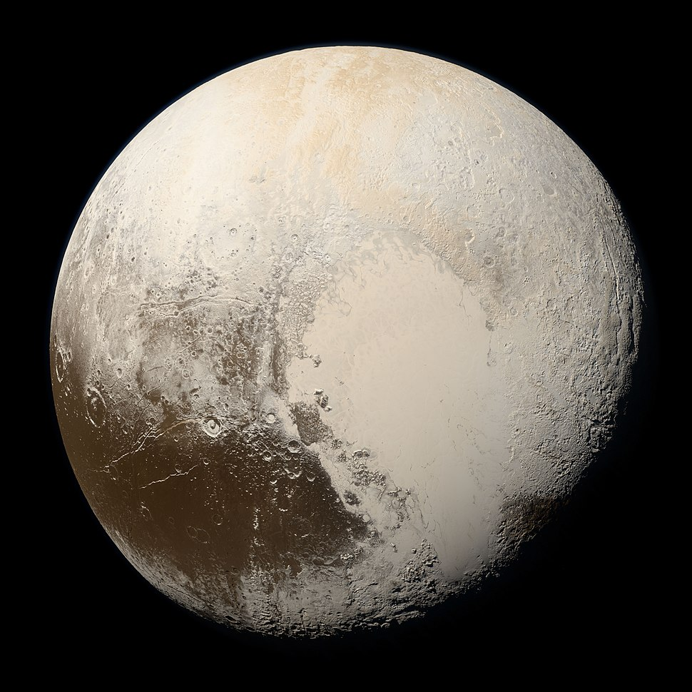 Pluto in True Color - High-Res
