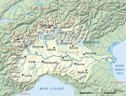 Po River Wikipedia - Map of ancient rome po river